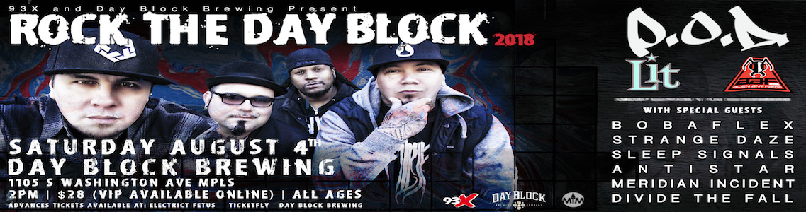 Rock The Day Block - All Day Rock Block Party downtown minneapolis