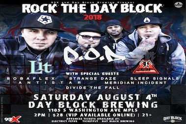 Rock the day block - Downtown Minneapolis