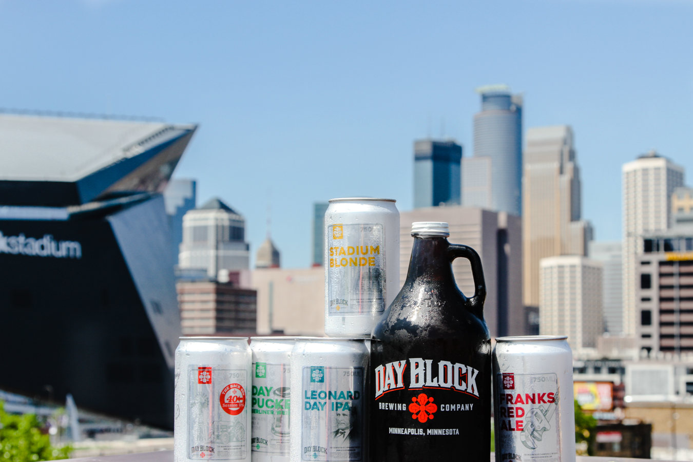 day block brewing company's growlers and crowlers