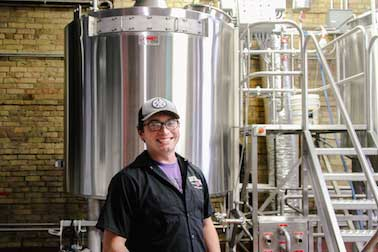 Adam Weis header brewer at Day Block Brewing Company