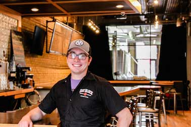 Day Block Brewing Company's taproom pouring mn beer