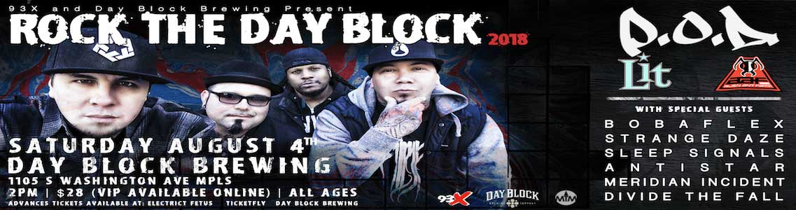 Rock The Day Block located downtown Minneapolis
