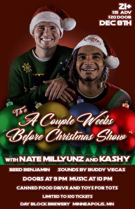 Nate Millyunz & Kashy A Couple Weeks Before Christmas Show