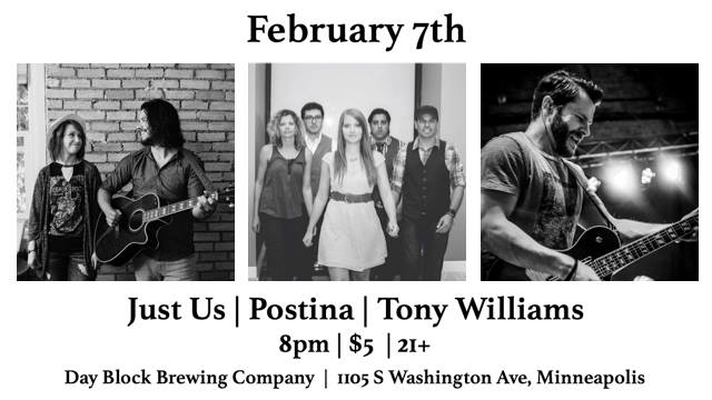 Just Us / Postina / Tony Williams at Day Block Brewing
