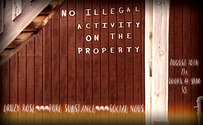 NO ILLEGAL ACTIVITY ON THE PROPERTY